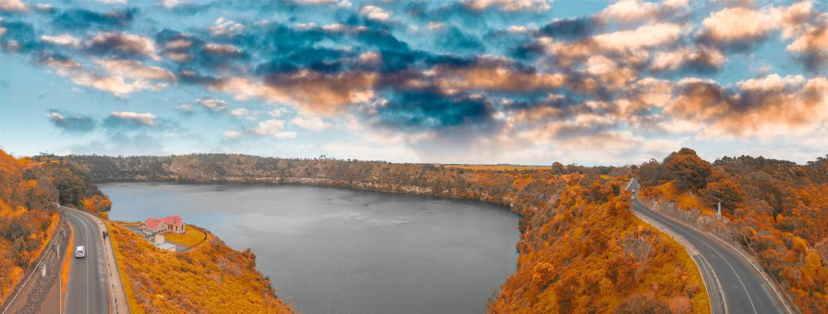 LIFE NEAR THE BLUE LAKE: According to Herron Todd White's July Month in Review report few dwellings sell for more than $700,000 in Mount Gambier. Photo - Shutterstock.