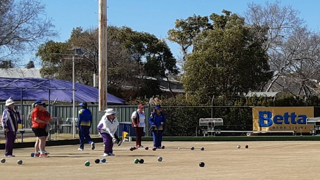 Saturday Play: It was good to see a full green with twenty- four bowlers playing six games of Pairs.