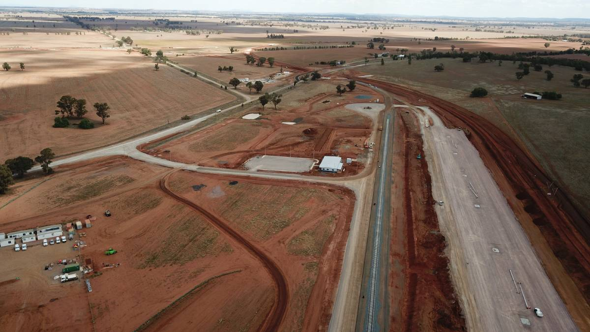 Construction on Pacific National's $35 million Parkes Terminal Development is progressing well.