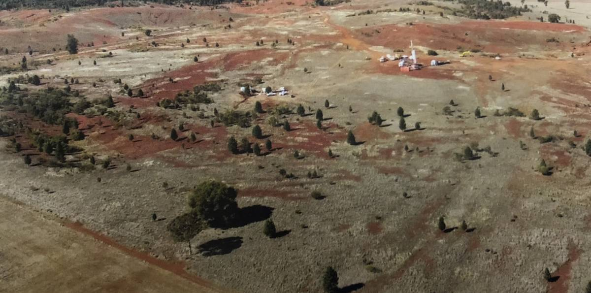 MINE SITE: Arial photo of Clean TeQ Sunrise site near Fifield NSW.