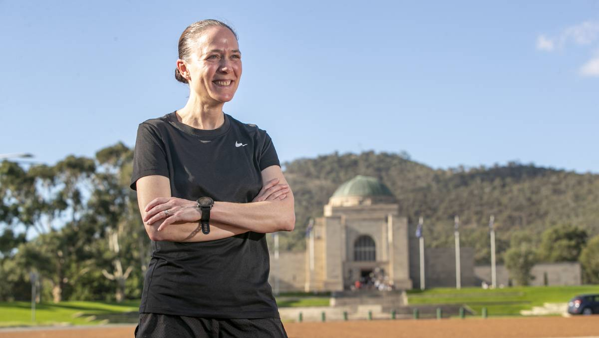 Defence Force nursing director Lieutenant-Colonel Serena Lawlor, who is raising money for the first statue of a woman in the War Memorial's sculpture garden. Picture: Keegan Carroll