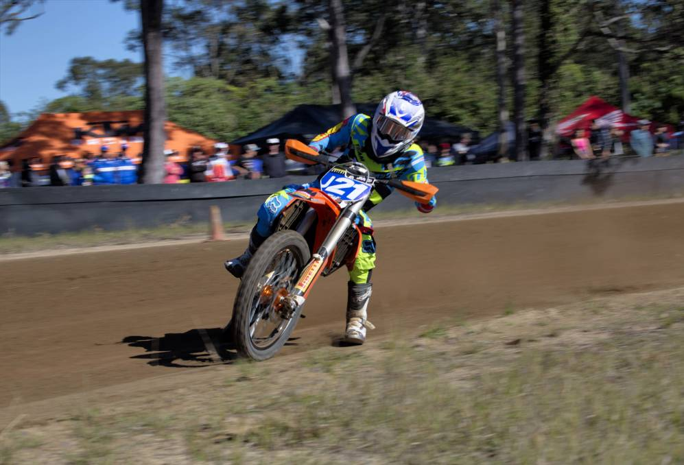RIDE ON: Gympie-based and champion rider Jarred Brook in action on track. Photo: Supplied