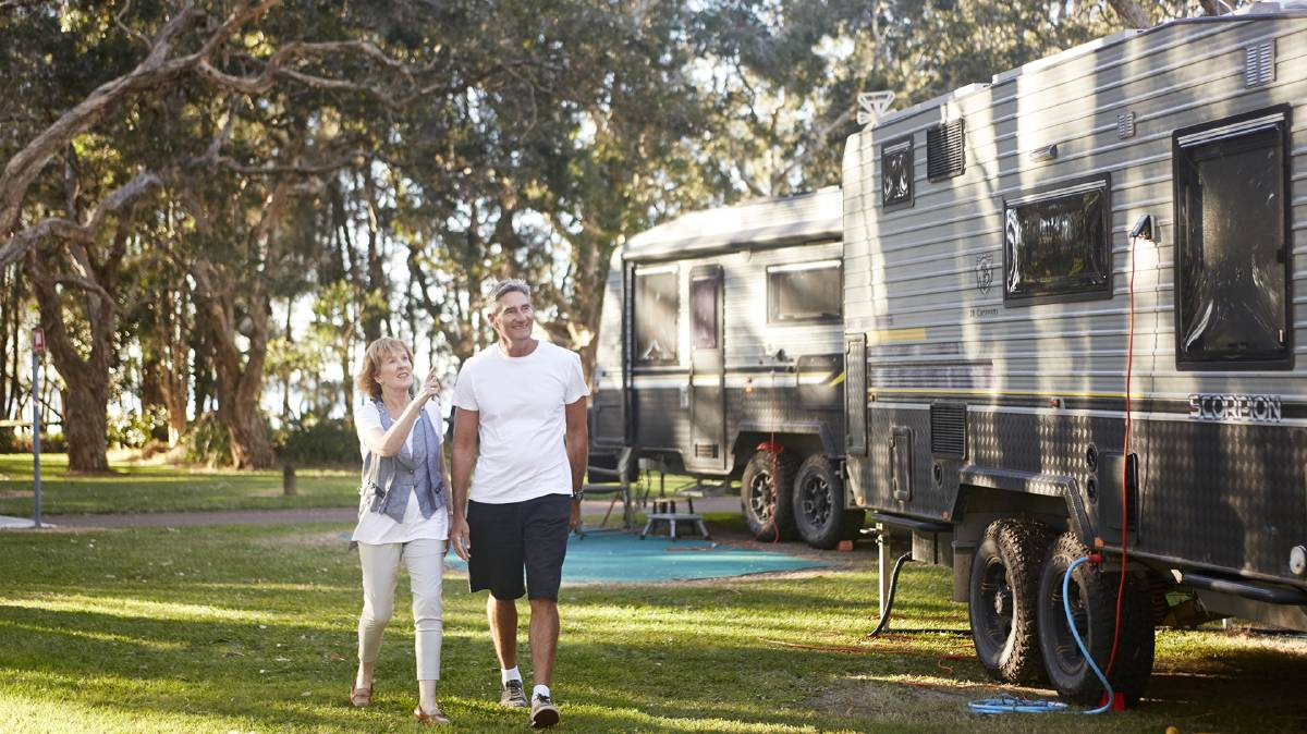 A caravan holiday on the NSW Central Coast harks back to slower, family times. But with all the mod cons and plenty of things to see and do.