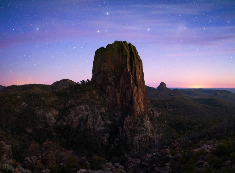 Dusk in the Warrumbungle National Park is a sight to behold. Picture: Destination NSW