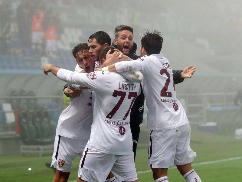 Torino held a 3-1 lead but were pegged back late by Sassuolo in Italy's Serie A.