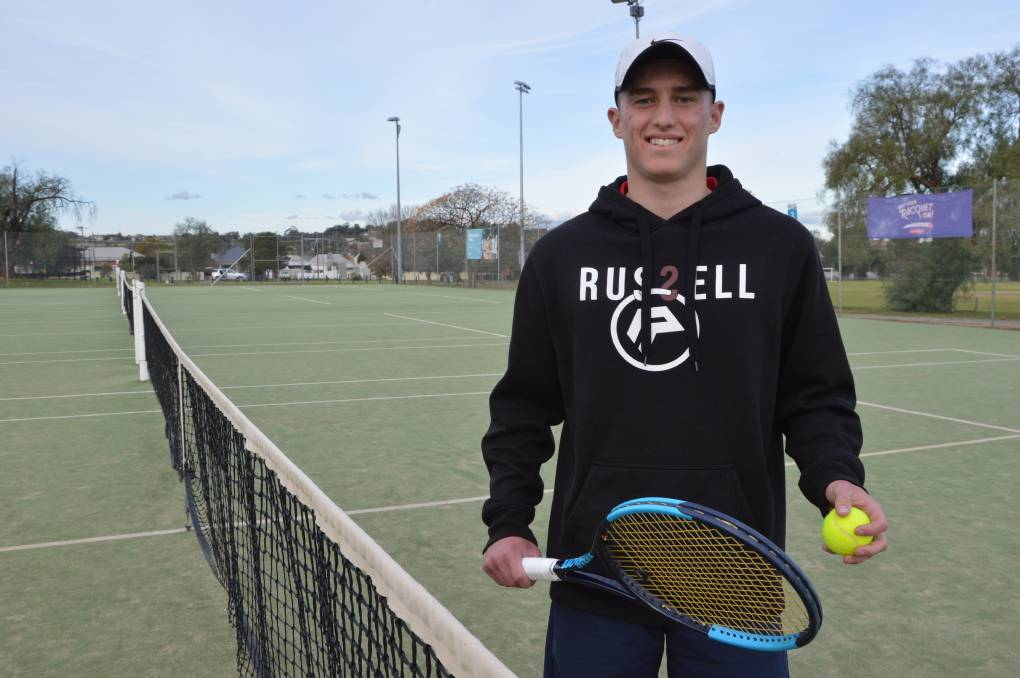 WAITING GAME: Rising tennis star from Bogan Gate Jake Magill is still waiting for his visa and permission to leave the country to study and play in the US, but he's hoping to get over there as soon as he can. Photo: Christine Little