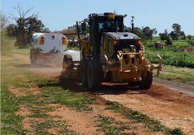 EARLY WORKS: Early work started on the Parkes Bypass this month at Nock Road, which includes upgrading and sealing the road and converting it into a cul-de-sac. Photo: NSW Roads