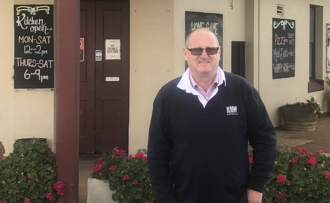 YOU CAN HELP: Trundle Central School principal John Southon appeals to people to take a trip to a country community. Photo: Submitted