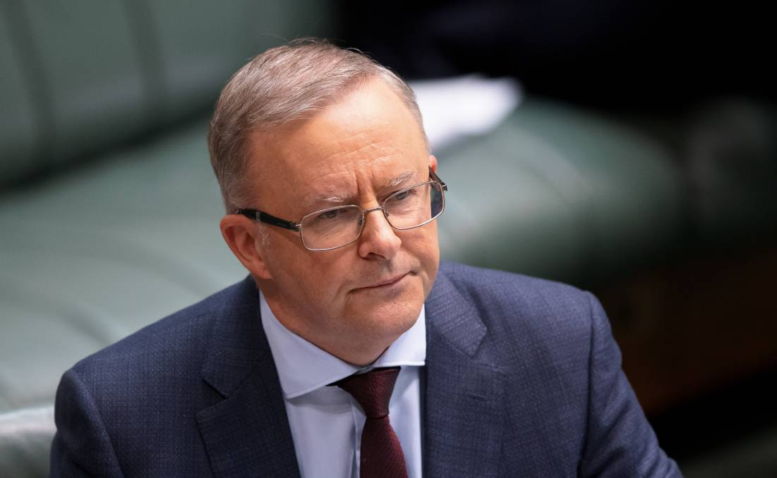 Opposition Leader Anthony Albanese in question time on Thursday. Picture: Sitthixay Ditthavong